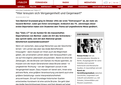 rbb KULTUR_interview
